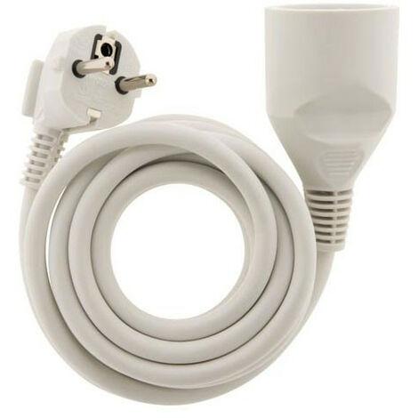 Rallonge électrique - 5m - H05VV-F 3G1.5mm² - Blanc - Zenitech