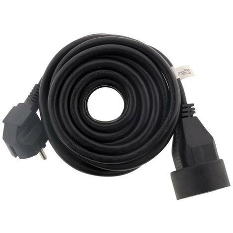 Rallonge électrique - 5m - H05VV-F 3G1.5mm² - Noir - Zenitech