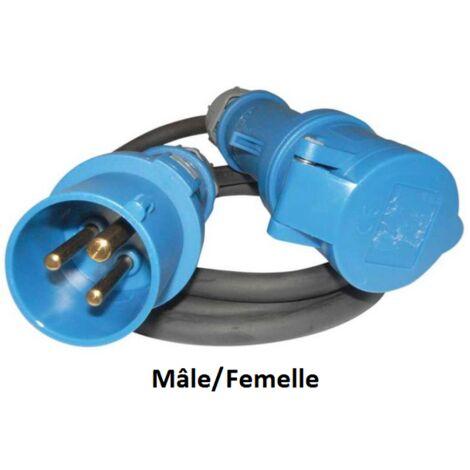 Rallonge electrique CEE 3x2.5mm longueur 1.5mètres