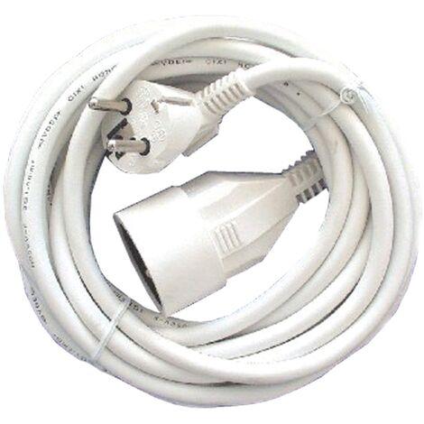 Rallonge électrique Chacon HO5VVF 10m Blanc IP20
