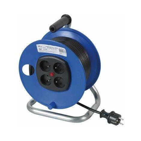 Rallonge electrique enrouleur de cable 40 metres 3500W + 4 prises