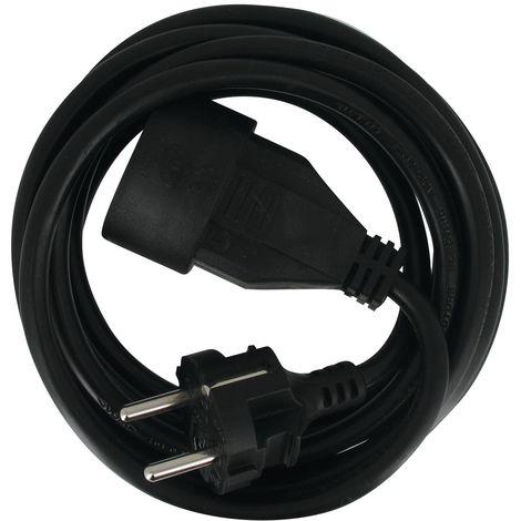 Rallonge électrique grise 2P+T - Câble 3G1,5 mm² - Dhome