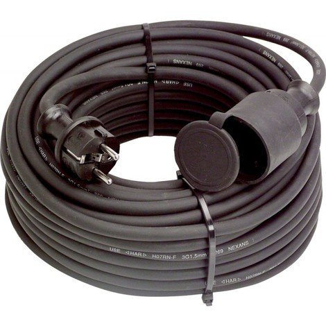 Rallonge électrique H07RN-F3G1,5 Noir 25 m - AS Schwabe Art:N60370