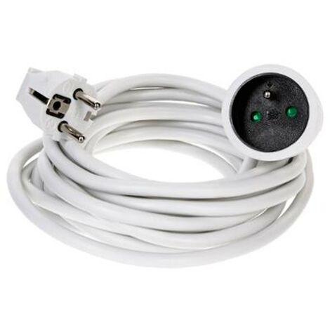 Rallonge Electrique Terre 5m Blanc