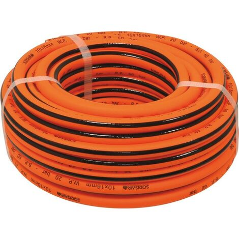 Rallonge en polymère hybride- int/ext 10x 16 mm- 20m ORANGE -S06576