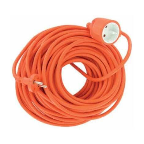 Rallonge extérieur orange - 15 m - 3 x 1,5 mm2 - Dhome