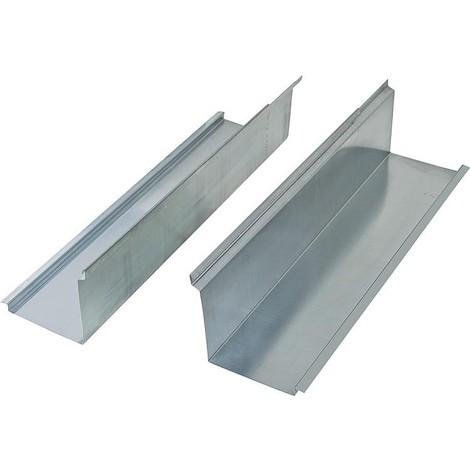 rallonge latérale pour solive, zinguée 50 cm en tout, sachet de 2 pièces surface utile 40cm