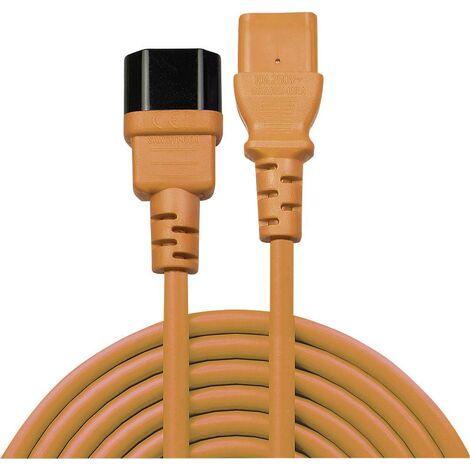 Rallonge LINDY LINDY 2m IEC Verlaengerung, orange 30475 [1x Secteur mâle C14 - 1x Secteur femelle C13] 2.00 m orange 1 pc(s) C245671