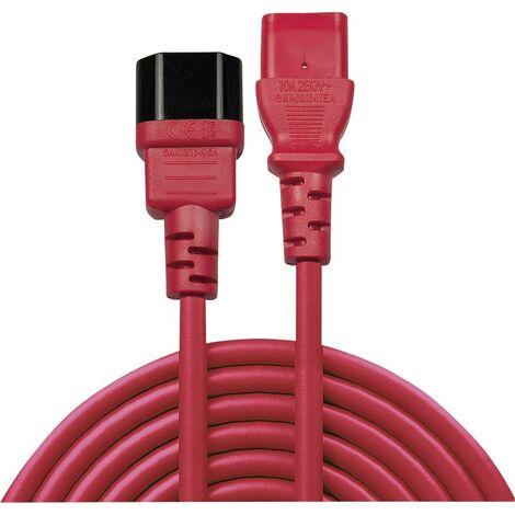 Rallonge LINDY LINDY 2m IEC Verlaengerung, rot 30478 [1x Secteur mâle C14 - 1x Secteur femelle C13] 2.00 m rouge 1 pc(s) C245651