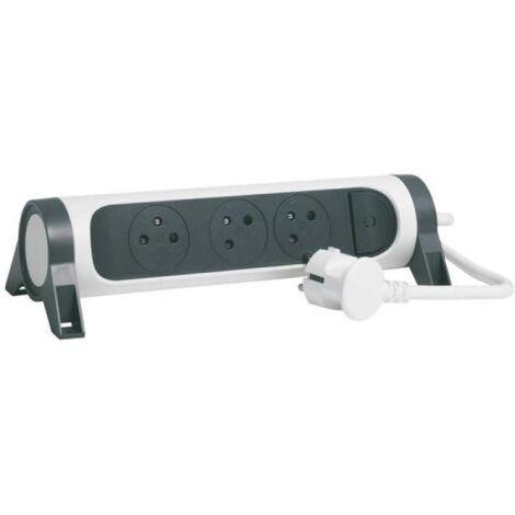 Rallonge multiprise confort bloc de prises rotatif 5x2P+T cordon 1,5 mètres