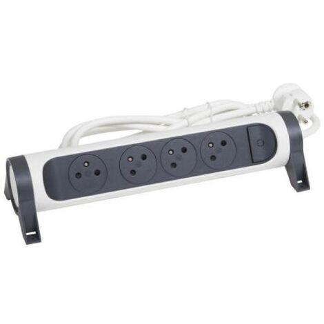 Rallonge multiprise confort bloc de prises rotatif 6x2P+T cordon 3 mètres