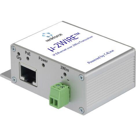 Rallonge réseau Renkforce RF-3395610 2 fils Portée (max.): 300 m 200 MBit/s 1 pc(s) X046731