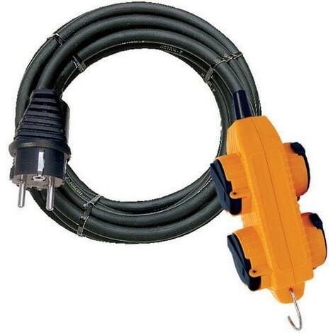 Rallonge socle anti-choc 5m BRENNENSTUHL - IP44 - 3G1.5 - 1151711