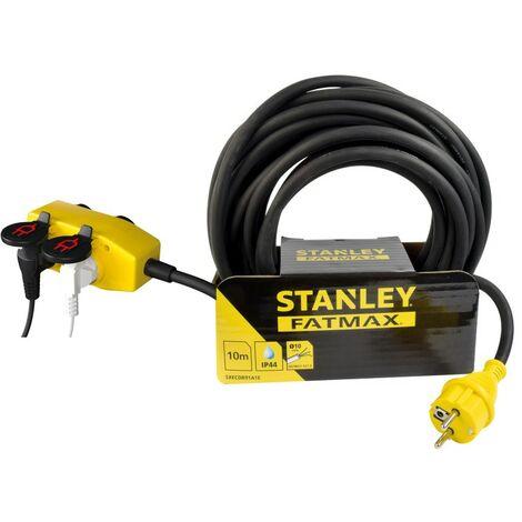 Rallonge Stanley Fatmax 5m - bloc 4 prises
