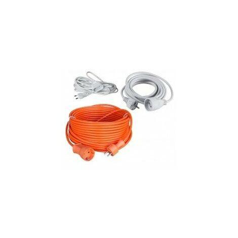 Rallonges electriques longueur 5 mcâble 3 x 1,5mm² - 16acouleur blanc