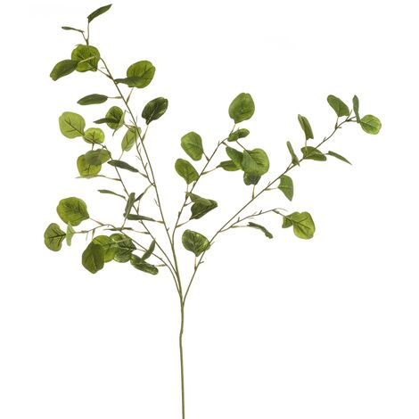 Rama artificial de eucalipto verde poliéster de 100 cm. Compra mínima 3 unid