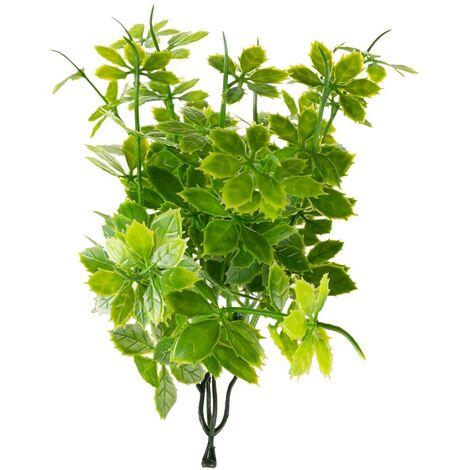Rama artificial de exterior para jardín vertical de enredadera verde de 19 cm
