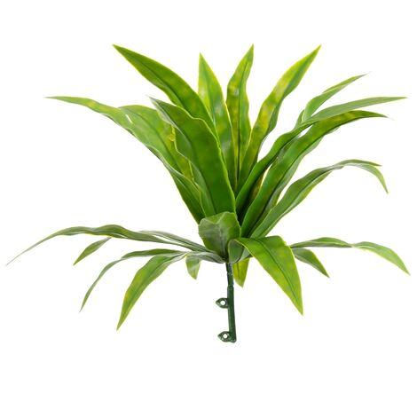Rama artificial de exterior para jardín vertical de hojas verde de 23 cm