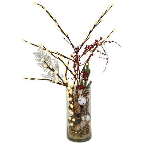 Rama de árbol decorativa 80 LED - 10 ramas