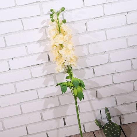 Ramas artificiales flores artificiales de navidad natural artificial follaje de las plantas salen de flores, champan