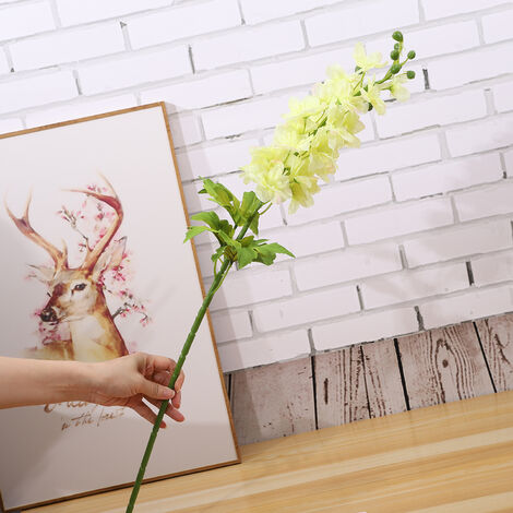 Ramas artificiales flores artificiales de navidad natural artificial follaje de las plantas salen de la flor de la puerta principal de bricolaje decoracion falso realista imitacion de las flores coloridas para la fiesta de bodas Festival, 5 #