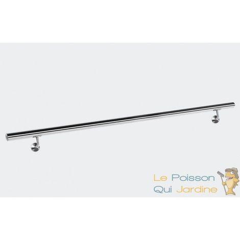 Rambarde, 140 cm, En Acier Inoxydable, Rampe d'Escalier Ou Main Courante - Acier