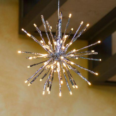 Immagini Di Luci Di Natale.Ramo Sferico A Led Per Decorazione Luci Di Natale Effetto Flash Da Esterno Luce Calda 24 X 3 Led O 40 Cm