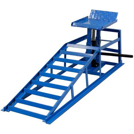 Rampa de acero hidráulico taller gato elevador derecho coches 2T regulable
