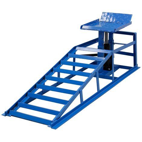 Rampa de acero hidráulico taller gato elevador izquierdo coches 2T regulable