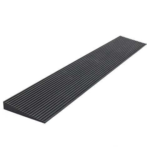 Rampa para borde de puerta 15x140x900mm, rampa de acceso con superficie antideslizante, goma maciza