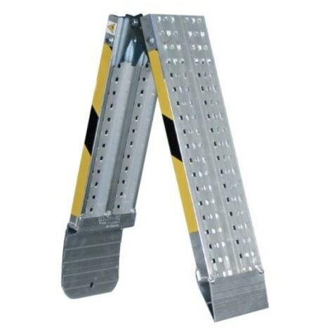 Rampa plegable aluminio 200x20cm 8kg carga 400kg svelt