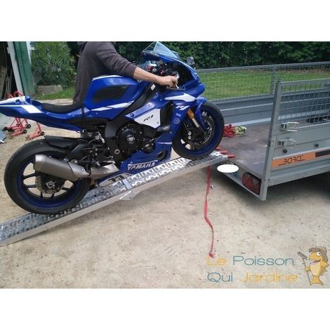 Rampe Chargement Pliable, Rampe Moto Charge maximale, 340kg 220cm