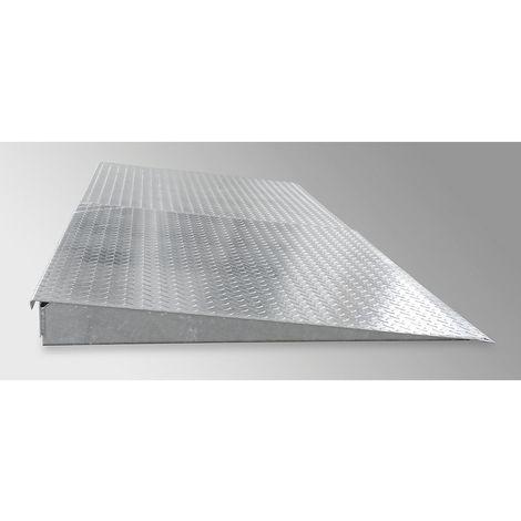 Rampe d'accès galvanisée pour cuve plate en acier - profondeur 1150 mm, charge par essieu 500 kg - largeur 2450 mm