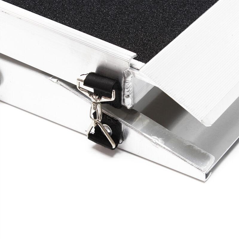 WilTec Rampe dacc/ès pour Chiens 1x Pliable Aluminium Surface antid/érapante 244 x 48 cm 110kg