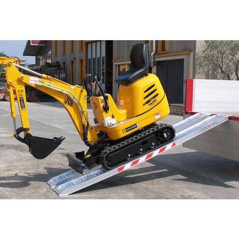 Rampe de chargement avec rebords jusqu'à 3000kg - Largeur int. 240mm  (plusieurs tailles disponibles)