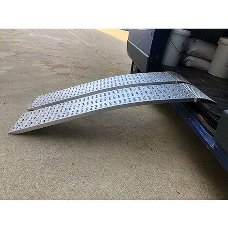 Rampe de chargement courbée - Largeur 200mm (plusieurs tailles disponibles)