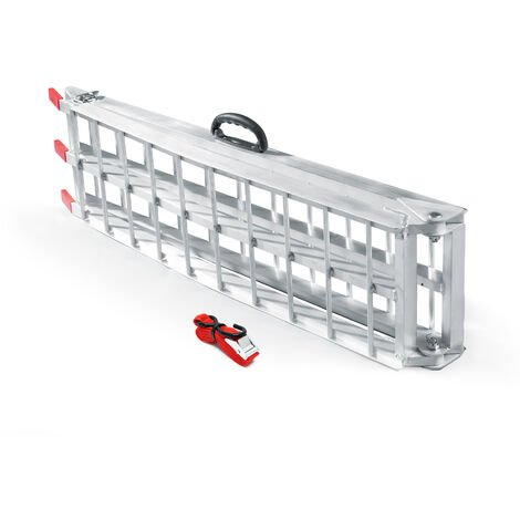 Rampe de chargement Pliable Moto VTT Quad Aluminium Rampe d'accès Rail 226cm 340kg