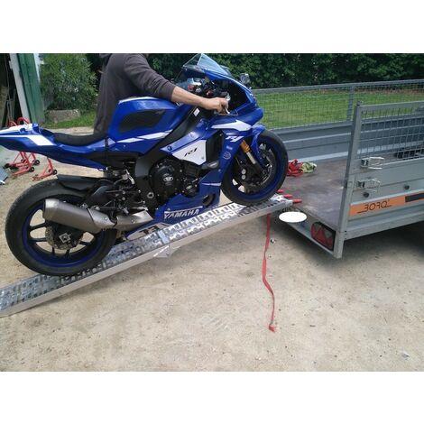 Rampe De Chargement Pliable Pour Moto, véhicule 2 roues. 228 cm 340 kg