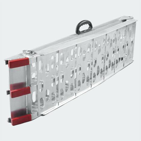 Rampe de chargement pliante aluminium rail collision 226 cm jusqu'a 340 kg