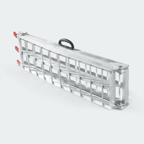 Rampe de chargement pliante aluminium rail collision 226 cm jusqu'a 340 kg gris - Gris