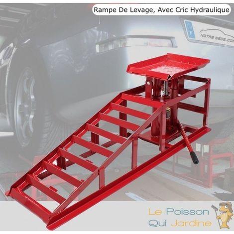 Rampe De Levage, 2000 kg, Avec Cric Hydraulique, Pour Garage - Rouge