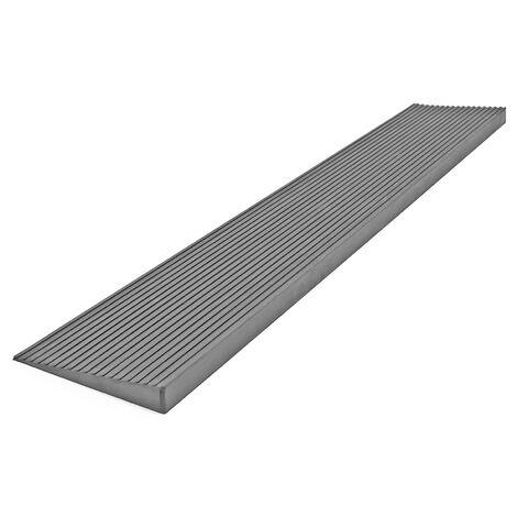 Rampe de seuil 10 mm × 1000 mm en caoutchouc, grise, rampe à haute capacité de charge, rampe pour fauteuil roulant