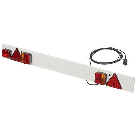 Rampe d'éclairage de remorque avec feu anti-brouillard + 5M câble