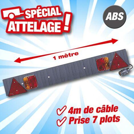 Rampe d'éclairage pour remorque en ABS- largeur 1m avec 4m de cable