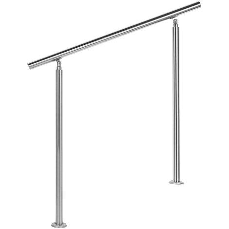 Rampe d'escalier Acier affiné V2A Sans Tige 80 cm Rambarde Main Courante Balustrade