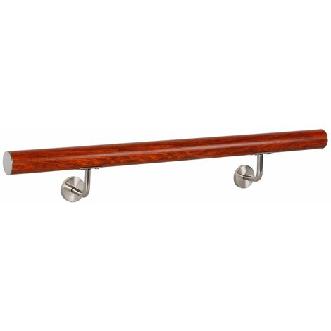 Rampe d'escalier Main Courante Rampe Escalier Barre Appui Aluminium Bois V2Aox 120 cm