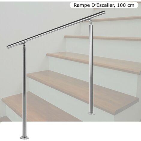 Rampe D'Escalier, Main Courante, Sur Pied, 100 cm, En Acier Inoxydable - Acier
