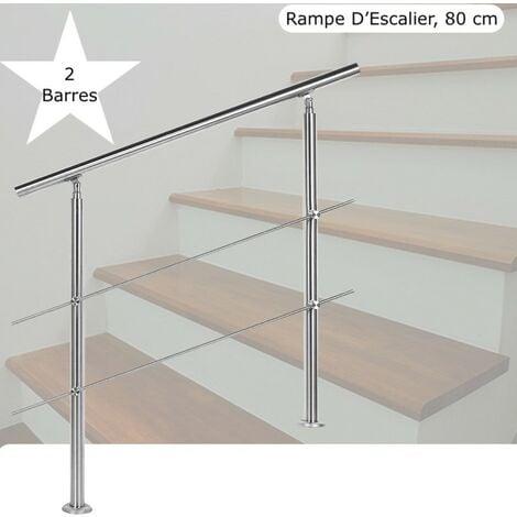30-600cm avec Support en Acier Inoxydable Main Courante escaliers en Bois Support de Rail de Rampe descalier pour Main Courante descalier Kit Complet pour lint/érieur et lext/érieur