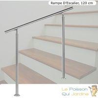 Rampe D'Escalier Ou Rambarde Sur Pieds 120 cm En Acier Inoxydable