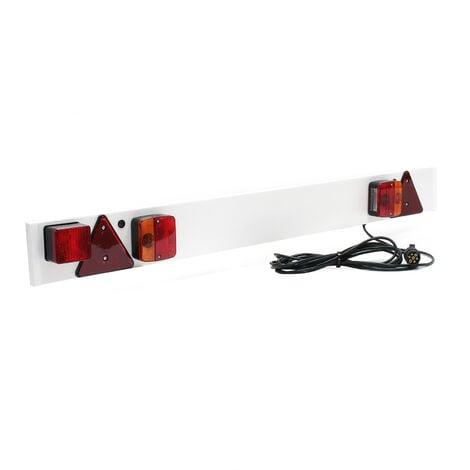Rampe Éclairage Remorque 7 Broches Largeur 137cm & Câble de 6m avec Feux arrière Stop & Clignotants